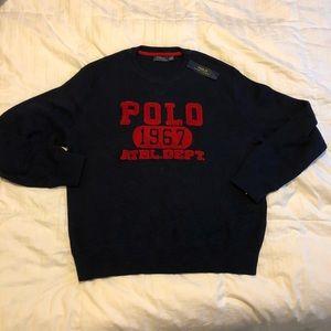 Ralph Lauren Polo Crewneck Sweater - Navy Blue, XL